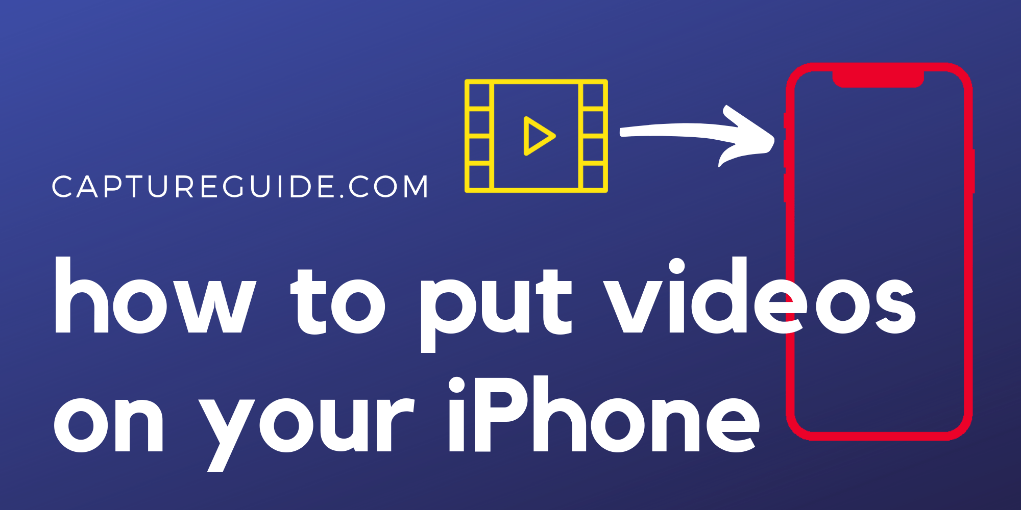 featured image for how to put videos on iphone tutorial